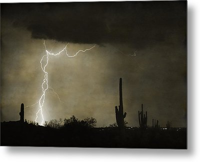 Twisted Desert Lightning Storm Metal Print by James BO  Insogna