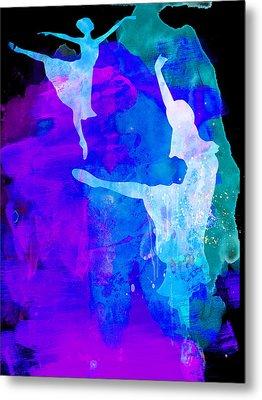 Two Ballerinas Watercolor 3 Metal Print by Naxart Studio