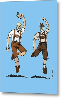 Two Bavarian Lederhosen Men Metal Print by Frank Ramspott