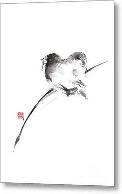 Two Birds Minimalism Artwork. Metal Print by Mariusz Szmerdt