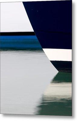 Two Boats Edgartown Metal Print by CJ Middendorf