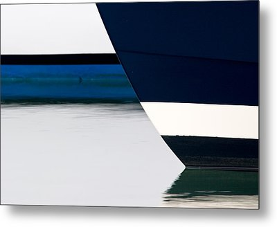 Two Boats Moored Metal Print by CJ Middendorf