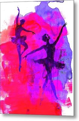 Two Dancing Ballerinas 3 Metal Print by Naxart Studio
