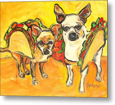 Two Good Tacos Metal Print by Jodie  Scheller