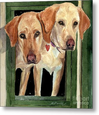 Two Hearts Metal Print by Molly Poole