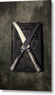 Two Knives And A Book Metal Print by Joana Kruse