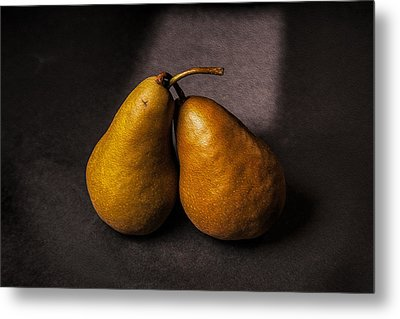 Two Pear Metal Print by Peter Tellone