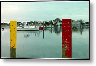 Two Poles Metal Print by Kathy Barney