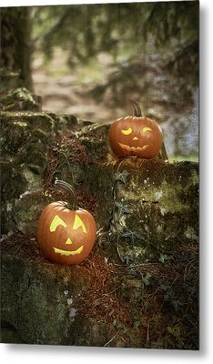 Two Pumpkins Metal Print by Amanda And Christopher Elwell