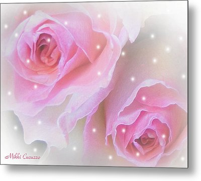 Two Roses Metal Print by Mikki Cucuzzo