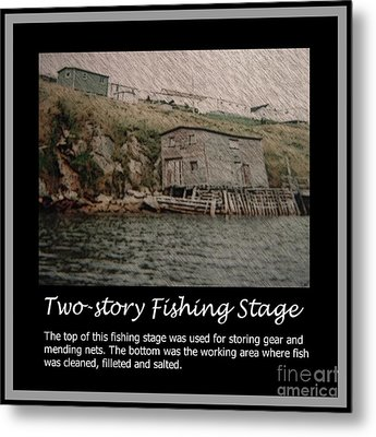 Two-story Fishing Stage Metal Print by Barbara Griffin