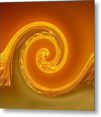 Two-toned Swirl Metal Print by Art Block Collections