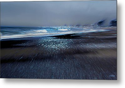 Two Waves Metal Print by Kathy Bassett