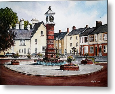 Twyn Square Usk Wales Metal Print by Andrew Read