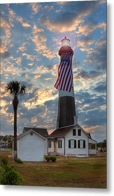 Tybee Lighthouse Metal Print by Peter Tellone