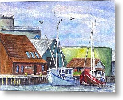 Tyboron Harbour In Denmark Metal Print by Carol Wisniewski