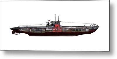 Type Viic42 U-boat, Artwork Metal Print by Science Photo Library