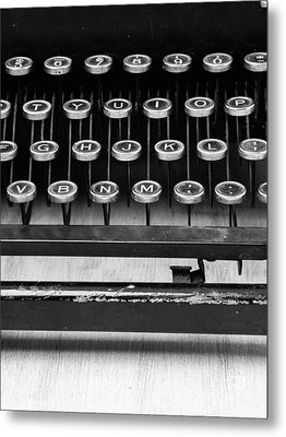 Typewriter Triptych Part 2 Metal Print by Edward Fielding