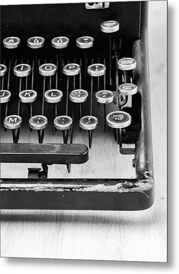 Typewriter Triptych Part 3 Metal Print by Edward Fielding