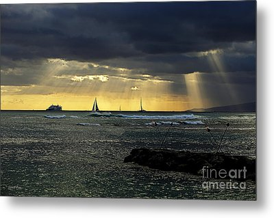 Typical Hawaiian Evening Metal Print by Cheryl Young