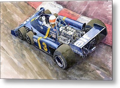 Tyrrell Ford Elf P34 F1 1976 Monaco Gp Jody Scheckter Metal Print by Yuriy  Shevchuk
