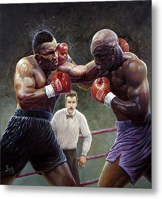 Tyson/holyfield Metal Print by Gregory Perillo