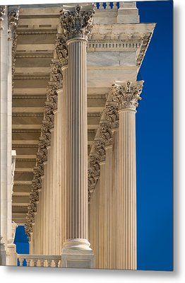U S Capitol Columns Metal Print by Steve Gadomski