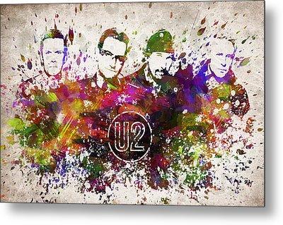 U2 In Color Metal Print by Aged Pixel