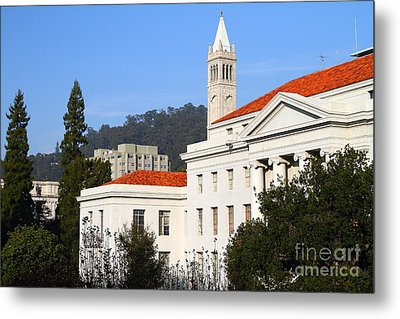 Uc Berkeley . Sproul Plaza . Sproul Hall .  Sather Tower Campanile . 7d10008 Metal Print by Wingsdomain Art and Photography