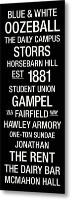 Uconn College Town Wall Art Metal Print by Replay Photos