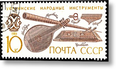 Ukrainian Folk Music Instruments  Metal Print by Jim Pruitt
