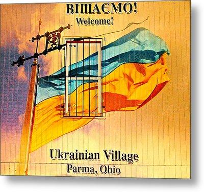 Ukrainian Village Ohio Metal Print by Frozen in Time Fine Art Photography