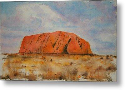 Uluru Metal Print by Lyndsey Hatchwell