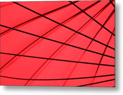 Red And Black Abstract Metal Print by Tony Grider