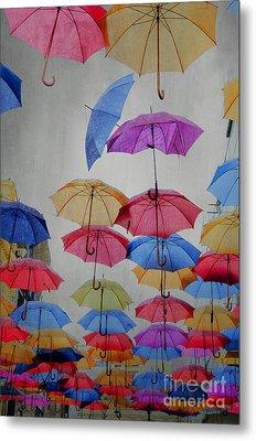 Umbrellas Metal Print by Jelena Jovanovic