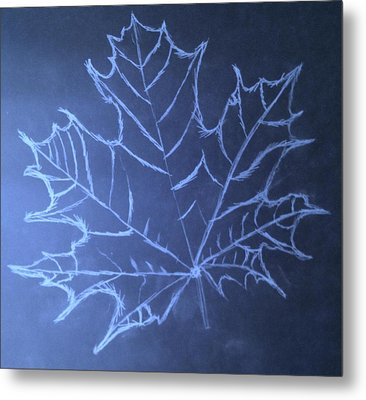 Uncertaintys Leaf Metal Print by Jason Padgett