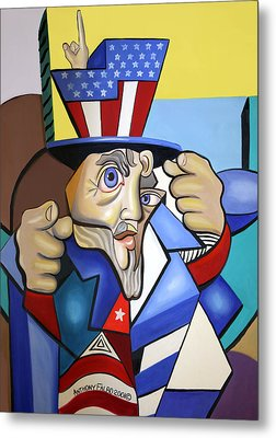 Uncle Sam 2001 Metal Print by Anthony Falbo