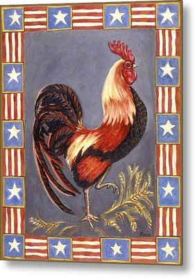 Uncle Sam The Rooster Metal Print by Linda Mears