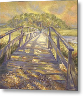 Uncle Tim's Bridge Metal Print by Lucie Bilodeau