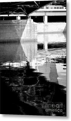 under the bridge - the X Metal Print by Bener Kavukcuoglu
