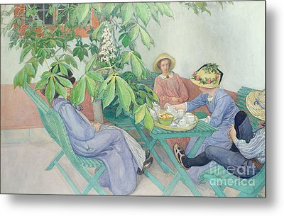 Under The Chestnut Tree Metal Print by Carl Larsson