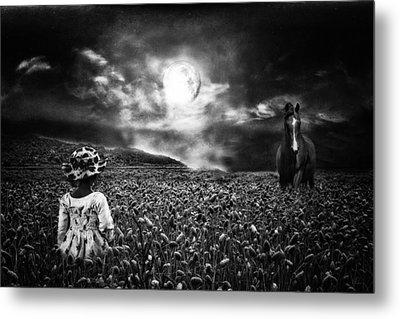 Under The Moonlight Metal Print by Sabine Peters