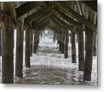 Under The Pawleys Island Pier Metal Print by Sandra Anderson