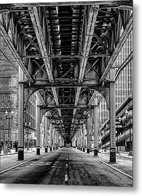 Under The Red Line Metal Print by Mike Burgquist