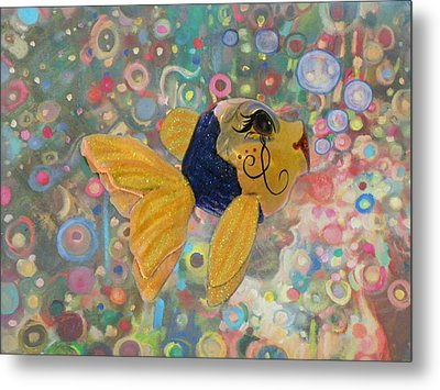 Under The Sea Party Metal Print by Sandi OReilly