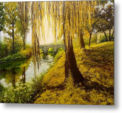 Under The Willow Metal Print by Svetla Dimitrova