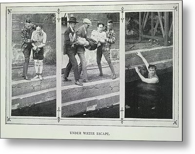 Under Water Escape Metal Print by British Library