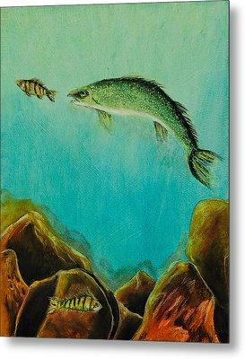 Underwater Predators Panel 1 Metal Print by Jeanne Fischer