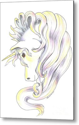Unicorn Metal Print by Laurianna Taylor