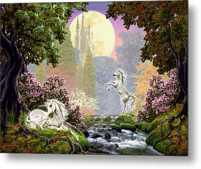Unicorn New Born Metal Print by Garry Walton